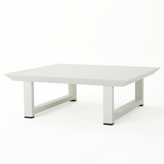 Bronte Outdoor Aluminum Square Coffee Table by Christopher Knight Home