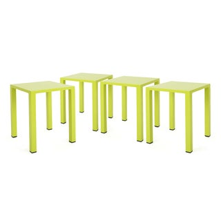 Windsdor Outdoor 16-inch Square Aluminum Side Table (Set of 4) by Christopher Knight Home