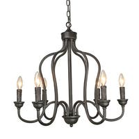 LNC 6-Light Foyer Pendant Lights Candelabra Kitchen Island Chandelier Lighting
