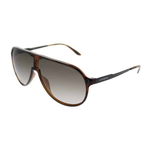 2189f83dd8 Carrera Aviator New Champion S 8F8 Unisex Havana Black Frame Brown Gradient  Lens Sunglasses