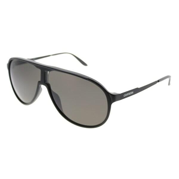 b74d336c55 Carrera Aviator New Champion S GUY Unisex Matte Black Frame Brown Lens  Sunglasses