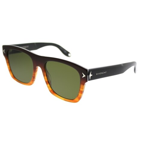 Givenchy Rectangle GV 7011 2S9 A6 Unisex Brown Black Frame Brown Lens Sunglasses