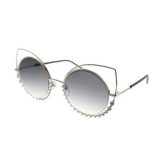 Marc Jacobs Cat-eye Marc 16 EEI Women Light Gold Frame Silver Mirror Lens Sunglasses