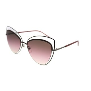Marc Jacobs Cat-eye Marc 8 TWZ Women Dark Ruthenium Frame Brown Mirror Polarized Lens Sunglasses