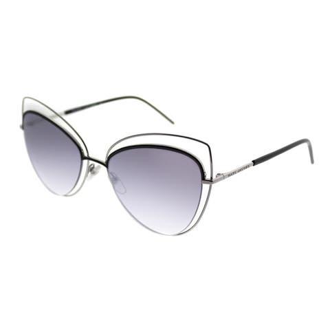 Marc Jacobs Cat-eye Marc 8 25K Women Ruthenium Black Frame Silver Mirror Lens Sunglasses