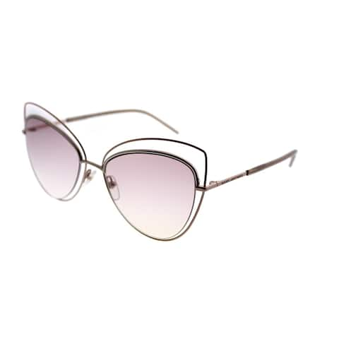 Marc Jacobs Cat-eye Marc 8 TXA Women Gold Copper Frame Pink Lens Sunglasses