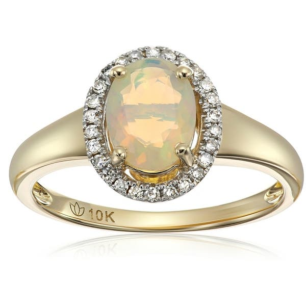 10Kt Yellow Gold Genuine Natural Diamond Princess Ring