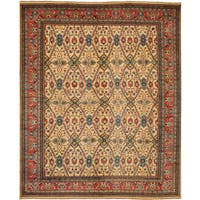 eCarpetGallery  Hand-knotted Finest Gazni Ivory Wool Rug (9'0 x 11'3)