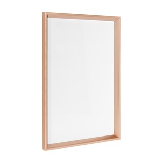 Kate and Laurel - Calder Framed Magnetic Dry Erase Board (Option: 16.5x25.5 - rose gold)