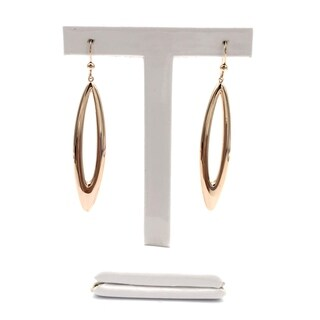 Rose Gold Plated Earrings - Dangling with butterfly push back