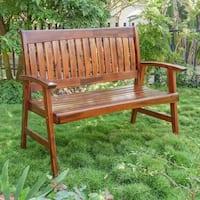 International Caravan Highland Acacia 4-Foot Garden Bench