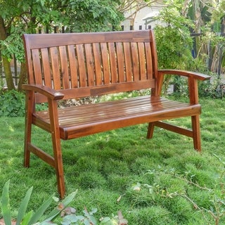 International Caravan Highland Acacia 4-Foot Garden Bench