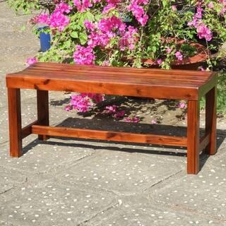 international carvan highland acacia 42 inch backless garden bench - Garden Bench