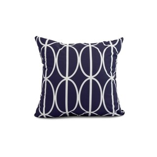 18 x 18 Inch Ovals Go 'Round Geometric Print Outdoor Pillow (5 options available)