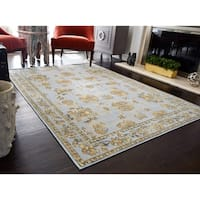 Nanette Blue Vintage Farmhouse Area Rug - 8' x 10'