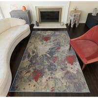 Aimee Contemporary Watercolor Area Rug - 8' x 10'