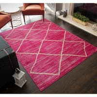 "Miller Distressed Modern Bohemian Area Rug - 5'3""x7'0"""