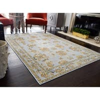 Nanette Blue Vintage Farmhouse Area Rug - 5'x7'