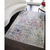 Elleene Distressed Bohemian Area Rug - 5'x7'