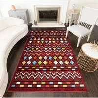 Myah Modern Geometric Diamonds Area Rug - 8' x 10'