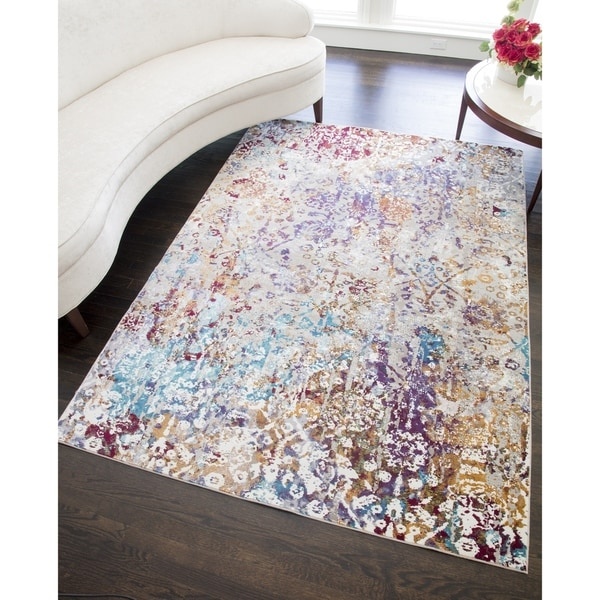 Sensation Modern Distressed Bohemian Area Rug - 5'x7'