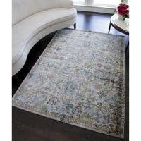 Paulina Distressed Oriental Area Rug - 5' x 7'