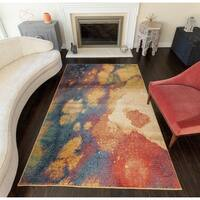 Rugs America Mercury Multicolored Abstract Area Rug (8' x 10')
