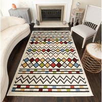 Genesis Modern Geometric Diamonds Area Rug - 8' x 10'