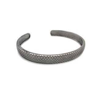 Rhodium Men Bracelet -One Size - Silver