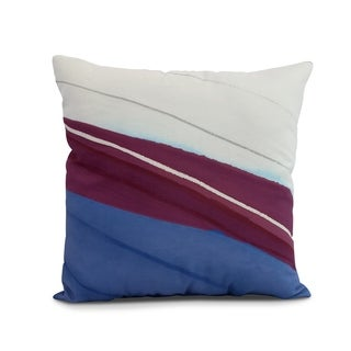 26 x 26 inch Boat Bow Wood Geometric Print Pillow (Multi - 26 x 26)