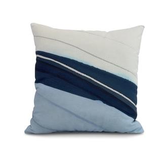 26 x 26 inch Boat Bow Wood Geometric Print Pillow (Blue - 26 x 26)