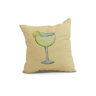 26 x 26 inch Margarita Plain Geometric Print Pillow (Yellow)