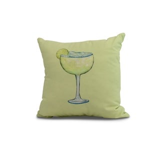 26 x 26 inch Margarita Plain Geometric Print Pillow (Green)