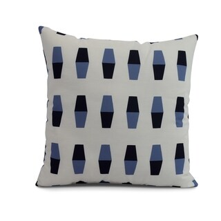 26 x 26 inch Bowling Pins Geometric Print Pillow (Navy Blue)