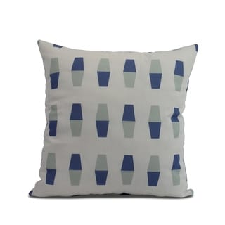 26 x 26 inch Bowling Pins Geometric Print Pillow (Blue)