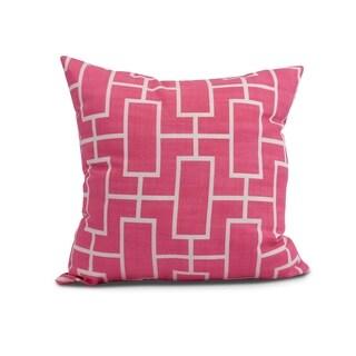 26 x 26 inch Screen Lattice Geometric Print Pillow (Fucshia)
