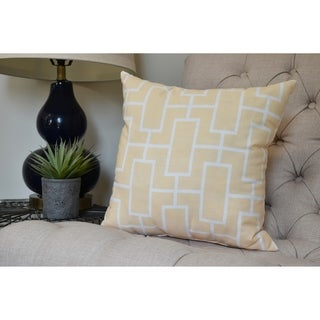 26 x 26 inch Screen Lattice Geometric Print Pillow (Yellow)