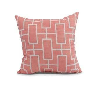 26 x 26 inch Screen Lattice Geometric Print Pillow (Coral)