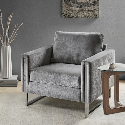 Silver Orchid Dumbrille Grey Lounge Chair