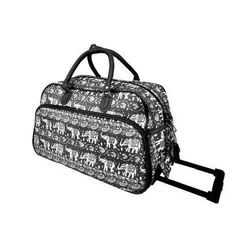 World Traveler Elephant 21-Inch Rolling Upright Carry-On Duffel Bag