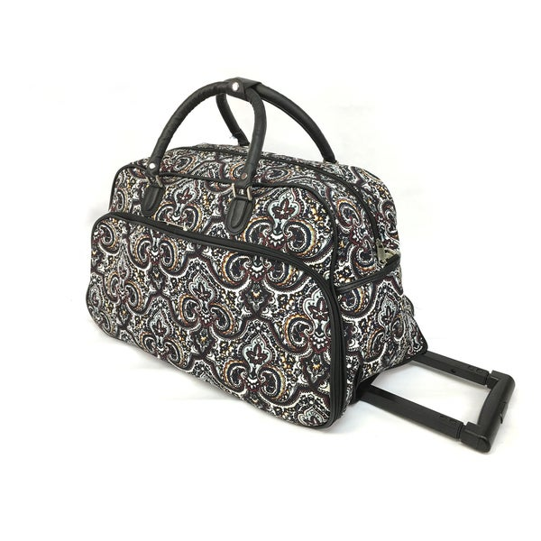 World Traveler Boutique Collection 21-Inch Rolling Upright Carry-On Duffel Bag