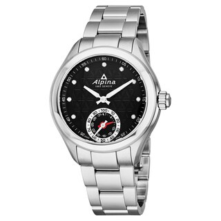 Alpina Women's AL-285BTD3C6B 'Smartwatch' Black Diamond Dial Stainless Steel Multifunction Swiss Quartz Watch
