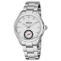 Alpina Women's AL-285STD3C6B 'Smartwatch' Silver Diamond Dial Stainless Steel Multifunction Swiss Quartz Watch