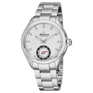 Alpina Women's AL-285STD3C6B 'Smartwatch' Silver Diamond Dial Stainless Steel Multifunction Swiss Quartz Watch