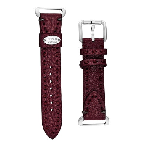 Fendi Women's SS18RL7S 'Selleria' Deep Wine Leather Strap