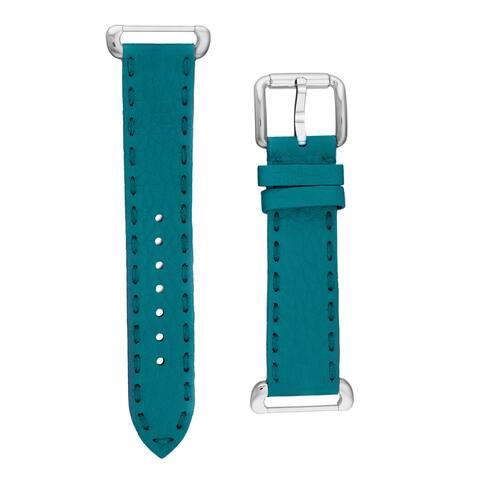 Fendi Women's SSN18R07S 'Selleria' Teal Leather Strap