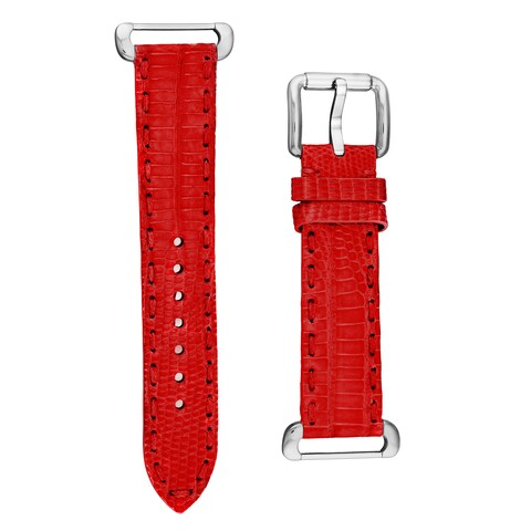 Fendi Women's TSN18R07S 'Selleria' Red Textured Leather Strap