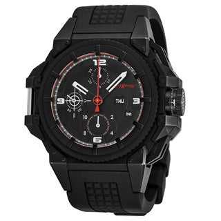 Snyper Men's 10.2SP.00 'One' Black Dial Black Rubber Strap Chronograph Swiss Automatic Watch