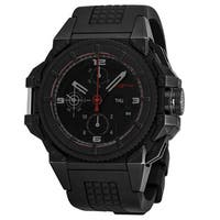 Snyper Men's  'One' Black Dial Black Rubber Strap Chronograph Swiss Automatic Watch
