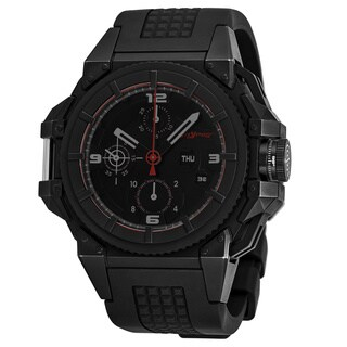 Snyper Men's 10.2SP.00.DC 'One' Black Dial Black Rubber Strap Chronograph Swiss Automatic Watch